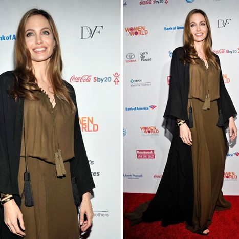 Angelina Jolie nosi Saint Laurent Paris