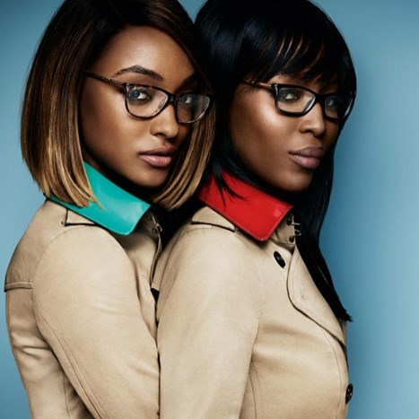 Jourdan Dunn i Naomi Campbell za Burberry