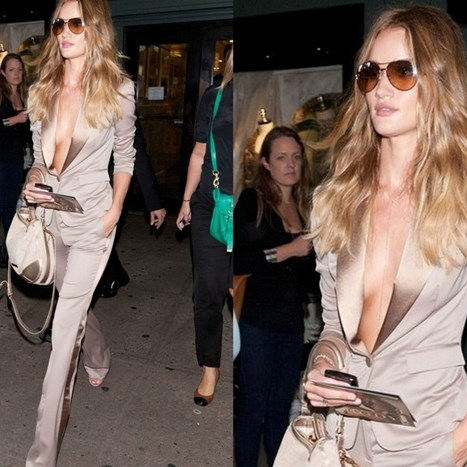Rosie Huntington Whiteley je chic u bež tonovima!
