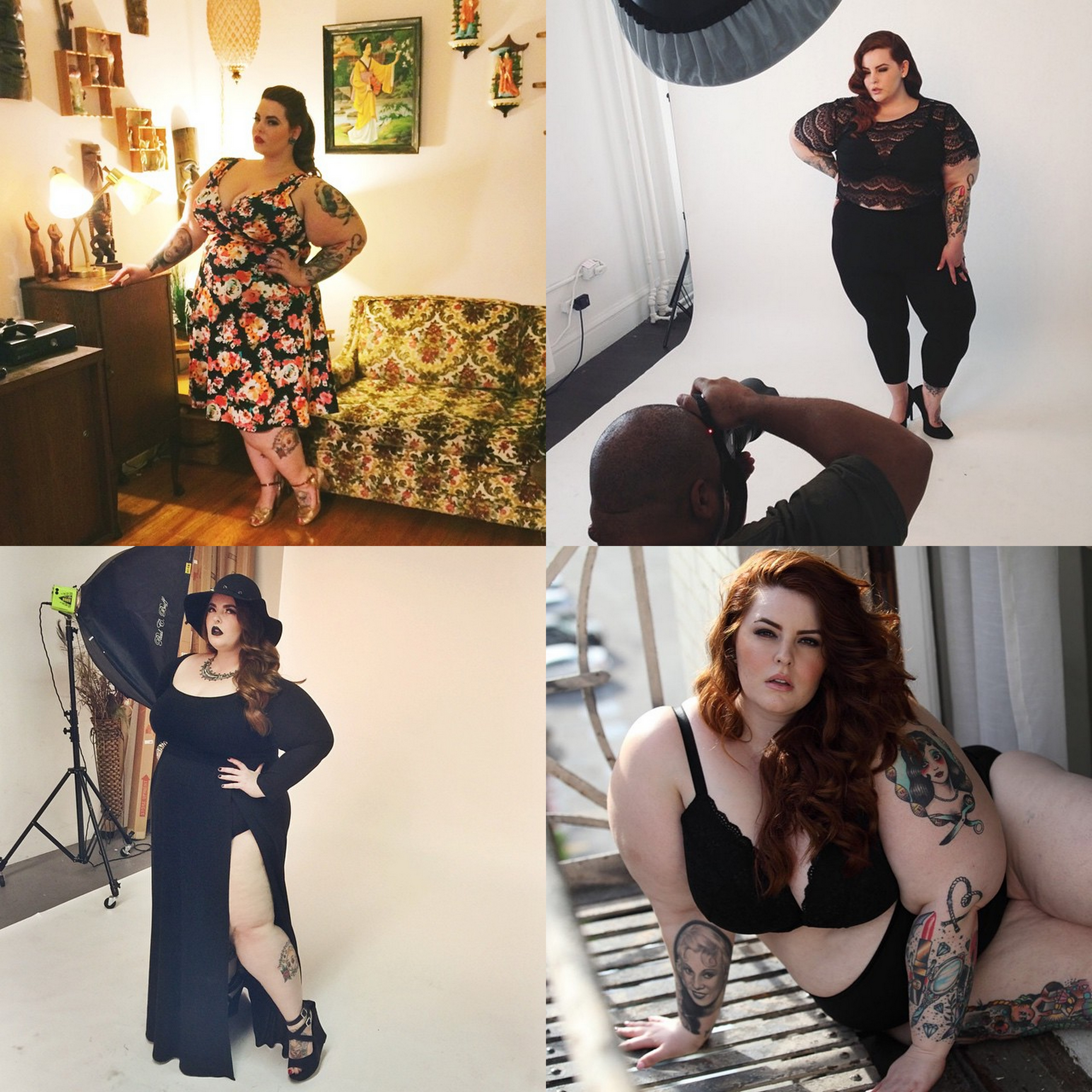 Plus size model Tess Holliday