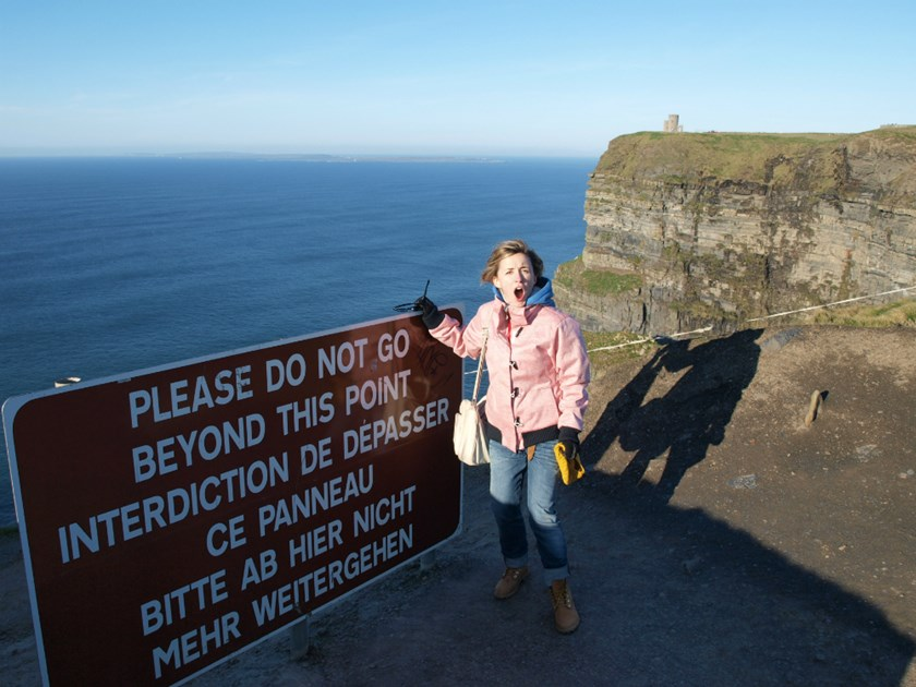 Iva Sulentic  cliffs of moher