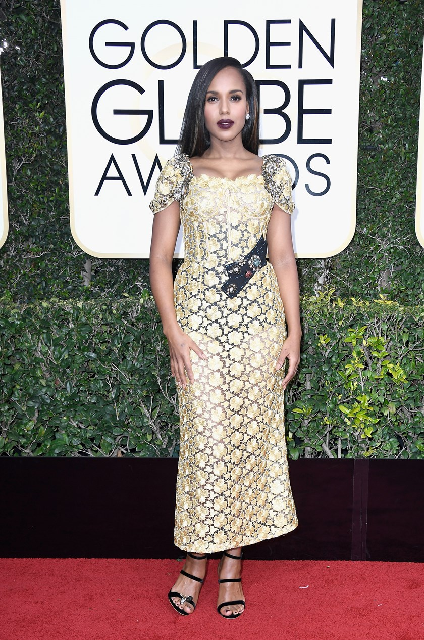Kerry Washington Golden Globes 2017.